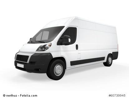 Delivery Van Isolated - Transporter mieten - http://transportermieten.info